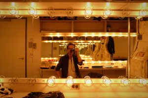 Dean and his many dressingrooms